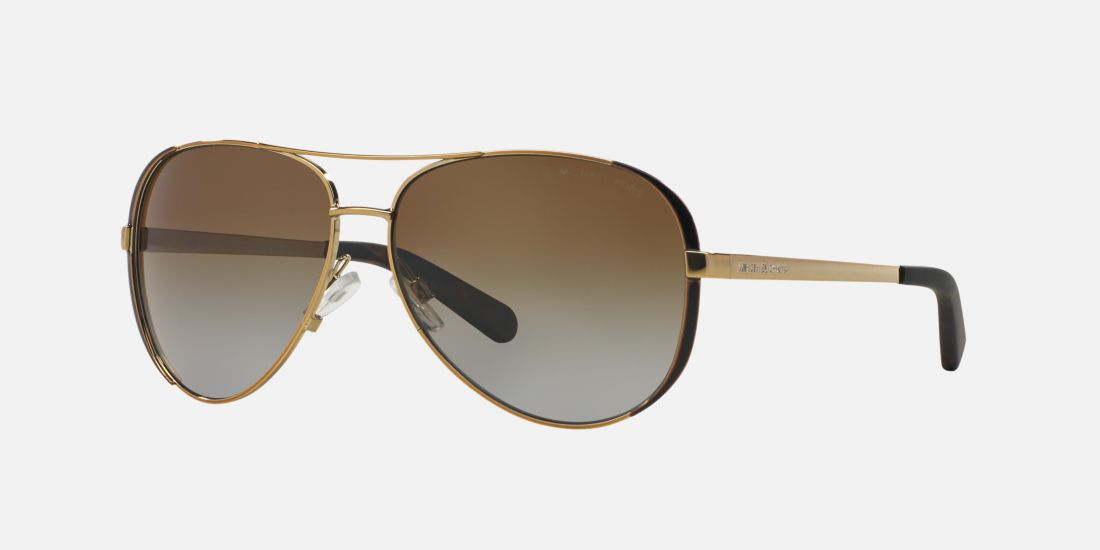 Michael Kors Gold Frame Sunglasses : Michael Kors MK5004 CHELSEA 59 Brown & Gold Polarized ...