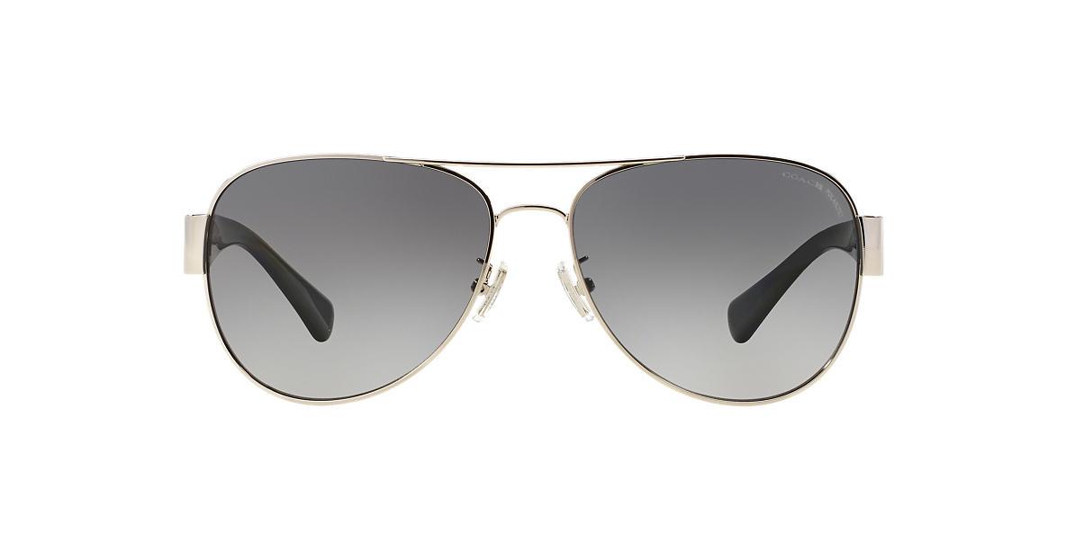 COACH Black HC7059 Grey polarised lenses 58mm