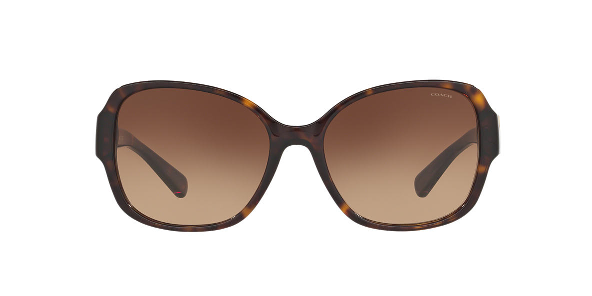COACH Tortoise HC8166 58 L154 Brown lenses 58mm