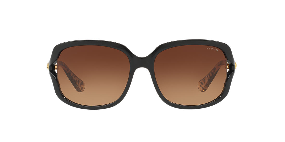 COACH Black HC8169 57 L149 Brown lenses 57mm