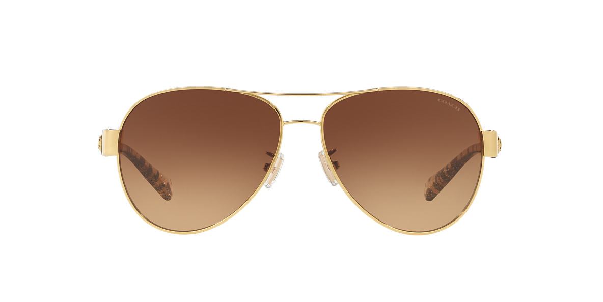 COACH Gold HC7063 58 L148 Brown lenses 58mm
