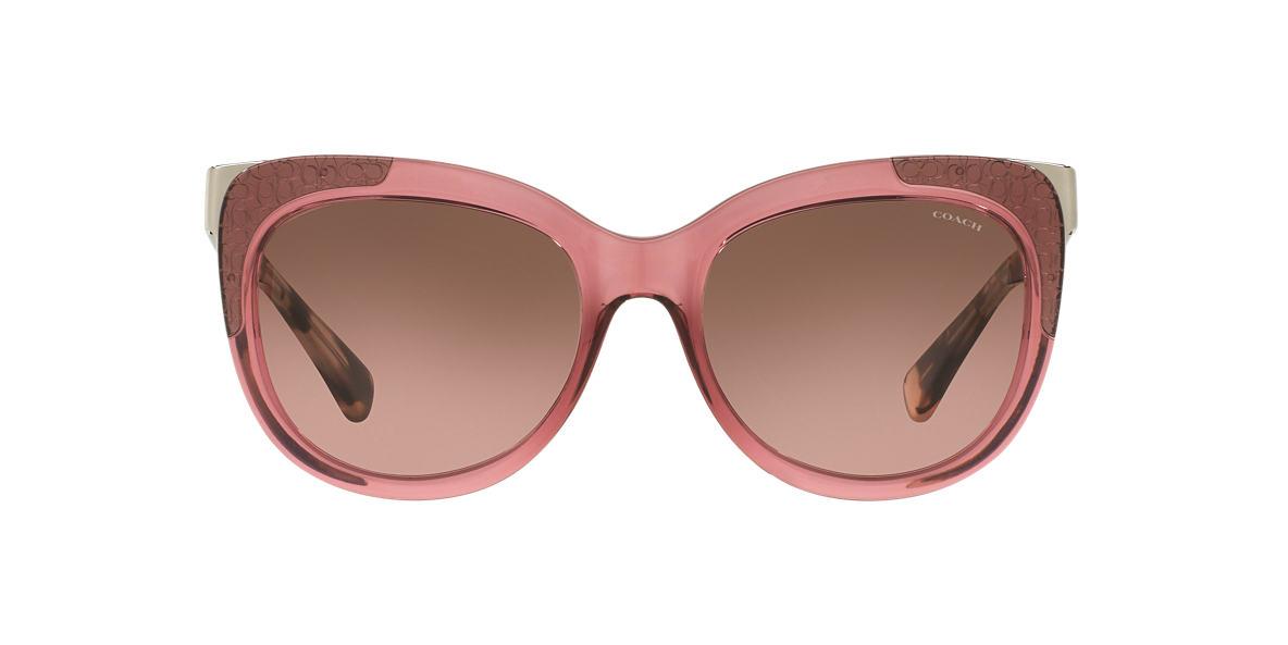 COACH Pink HC8171 56 L152 Brown lenses 56mm