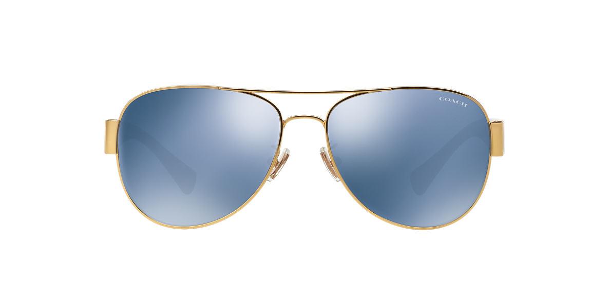COACH Gold HC7059 58 L138 Blue lenses 58mm