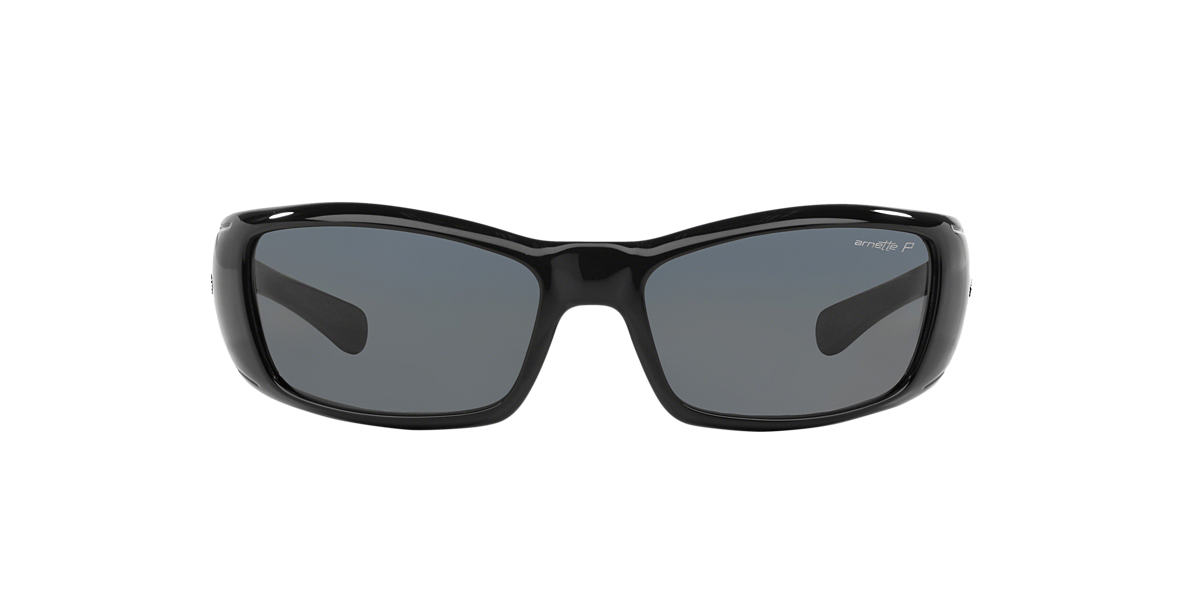 ARNETTE Black Shiny AN4077 RAGE XL Grey polarized lenses 60mm