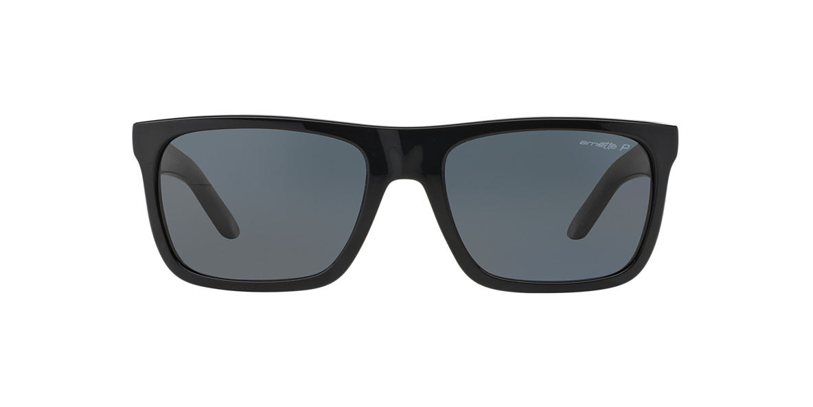 ARNETTE Black AN4176 DROPOUT Grey polarized lenses 58mm