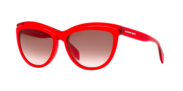 Image of Alexander Mcqueen Amq4247/s Red Cat-Eye Sunglasses