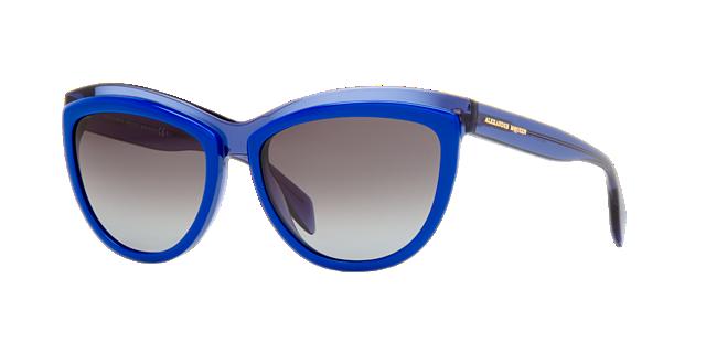 Image of Alexander Mcqueen Amq4247/s Blue Cat-Eye Sunglasses