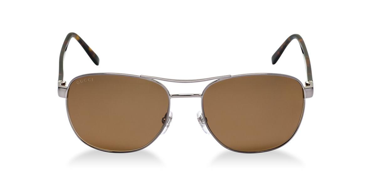GUCCI Silver GC2220/S Grey polarized lenses 57mm