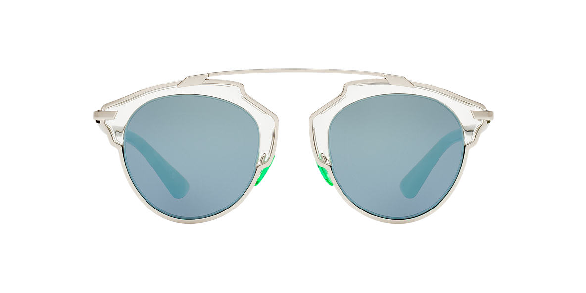 CHRISTIAN DIOR Green DIORSOREAL Blue lenses 48mm
