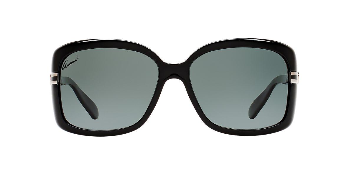 GUCCI Black GG3188/S 58 Grey polarized lenses 58mm
