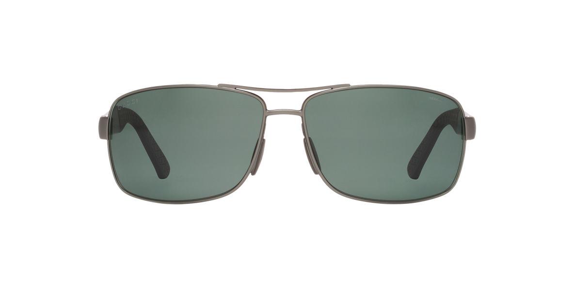 GUCCI Gunmetal Matte GC2234/S Green polarized lenses 63mm