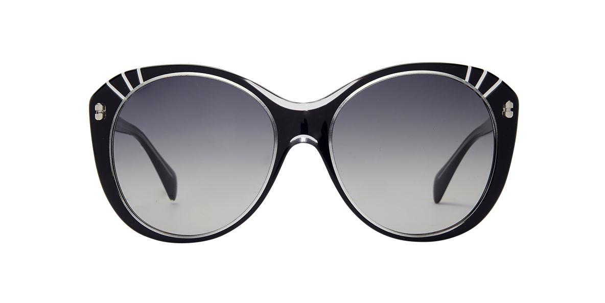 ALEXANDER MCQUEEN Black AMQ4230/S Grey lenses 57mm