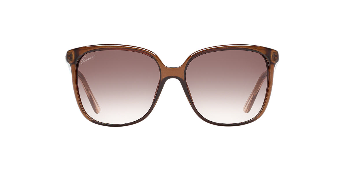 GUCCI Brown 3696S Brown lenses 57mm