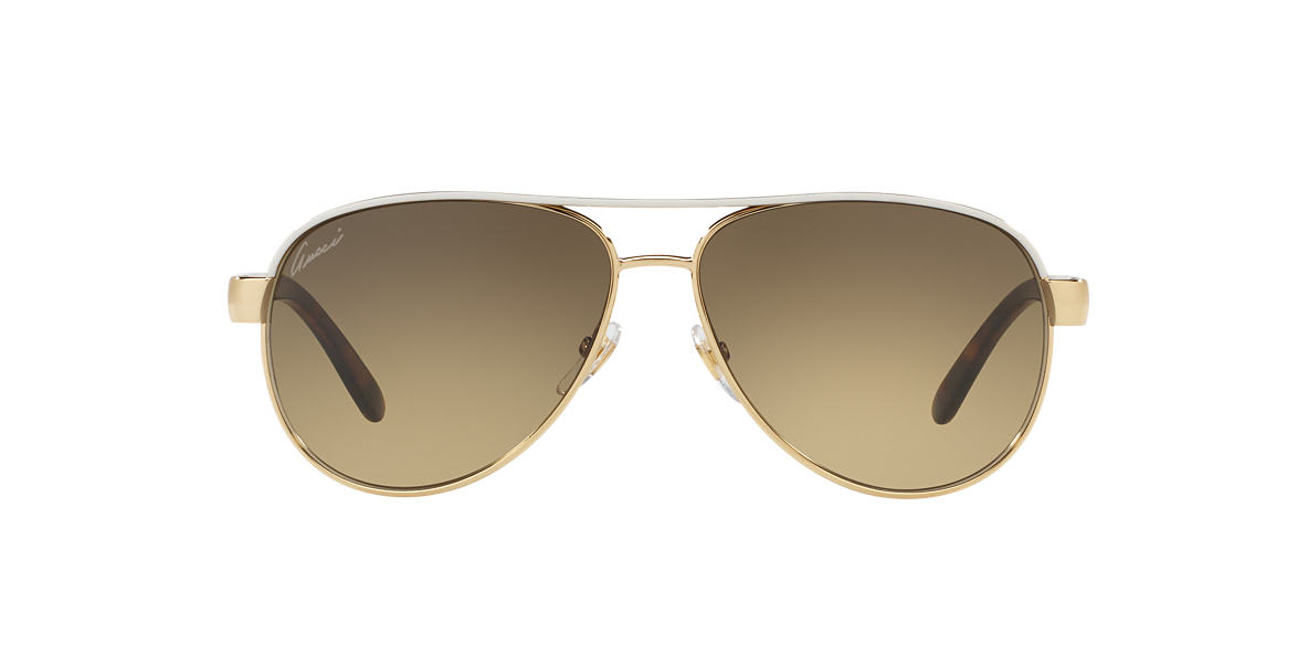 GUCCI Ivory GC 4239/S 58 Brown lenses 58mm