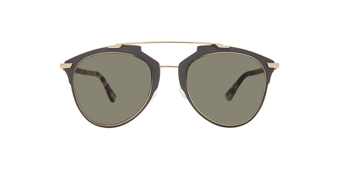 CHRISTIAN DIOR Silver DIORREFLECTED Brown lenses 52mm