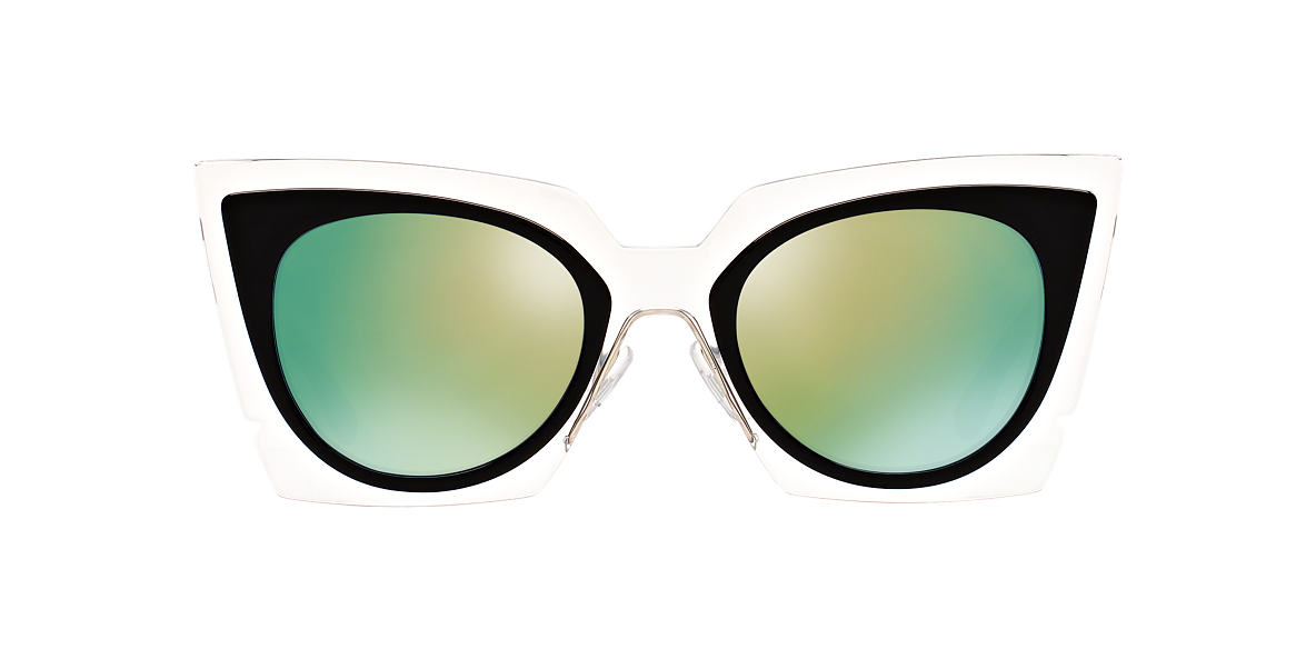FENDI Black FD 117/S 49 Blue lenses 49mm