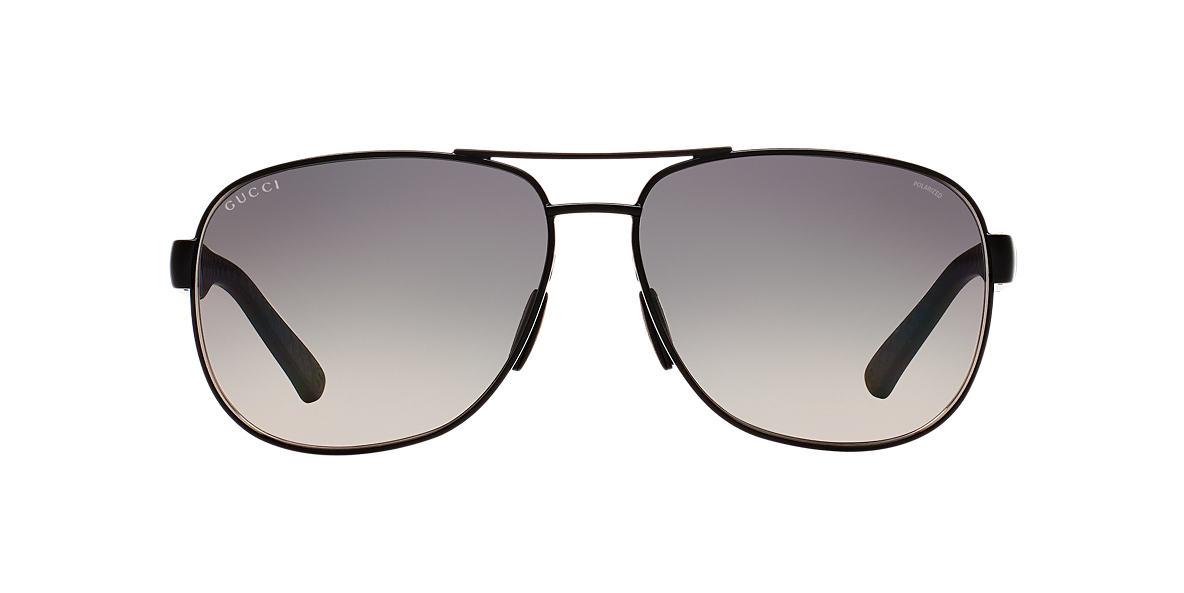 GUCCI Silver GG2260F/S 63 Grey polarized lenses 63mm