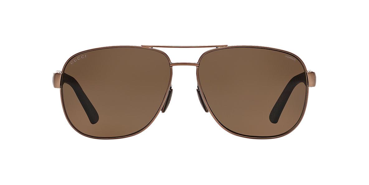 GUCCI Brown GG2260F/S 63 Bronze polarized lenses 63mm