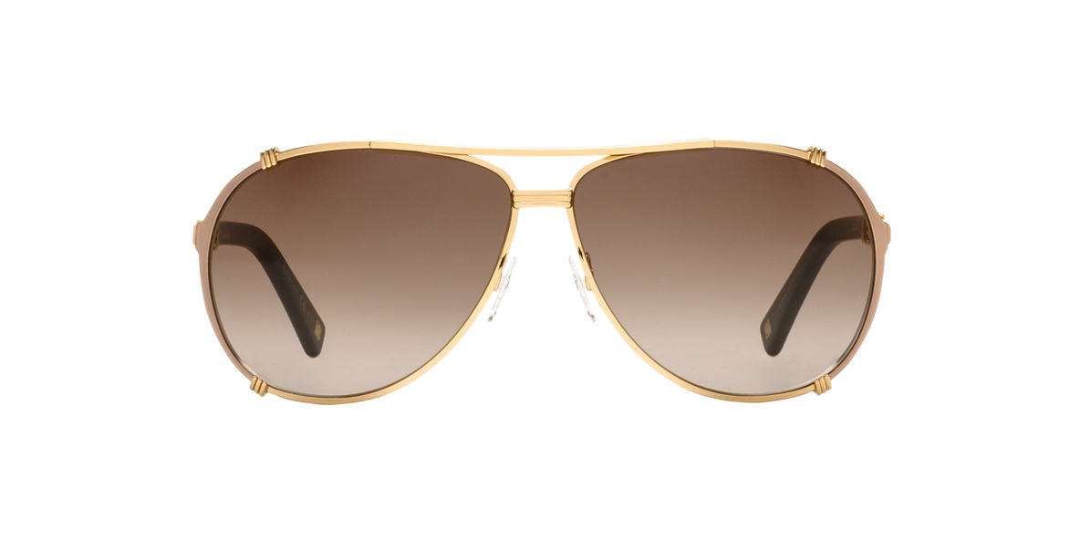 DIOR Gold DIOR CHICAGO2STRASS/S 63 Brown lenses 63mm