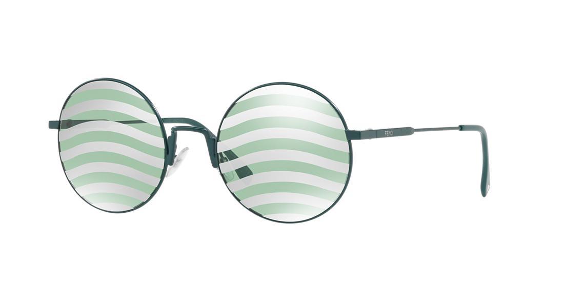2a9c6c447ff3 Fendi Ff 0248 53 Green Round Sunglasses