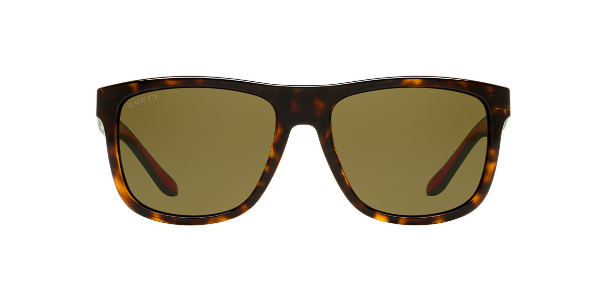 GUCCI Green GG1118/S 57 Brown lenses 57mm