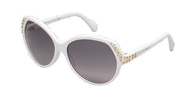 Image of Alexander Mcqueen Amq4216/s White Round Sunglasses