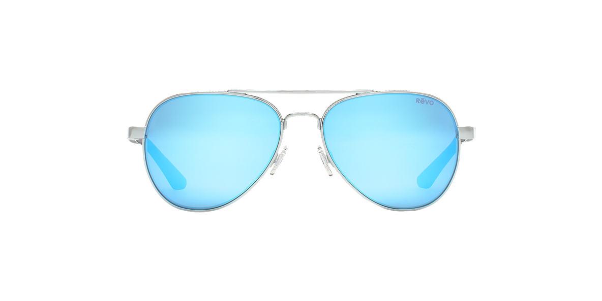 REVO Silver RE1011 RACONTEUR 58 Blue polarized lenses 58mm