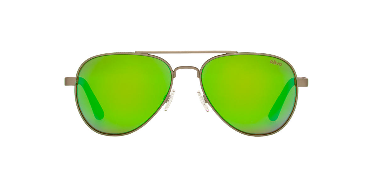 REVO Gunmetal RE1011 RACONTEUR 58 Green polarized lenses 58mm