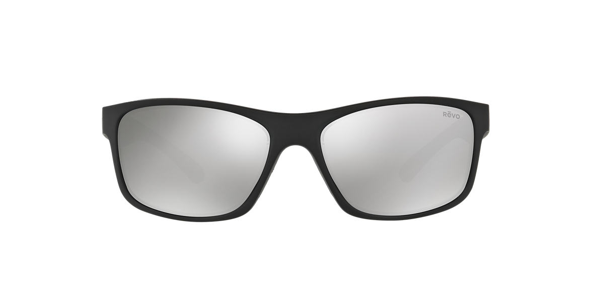 REVO Black Matte RE4071 HARNESS 61 Silver polarized lenses 61mm