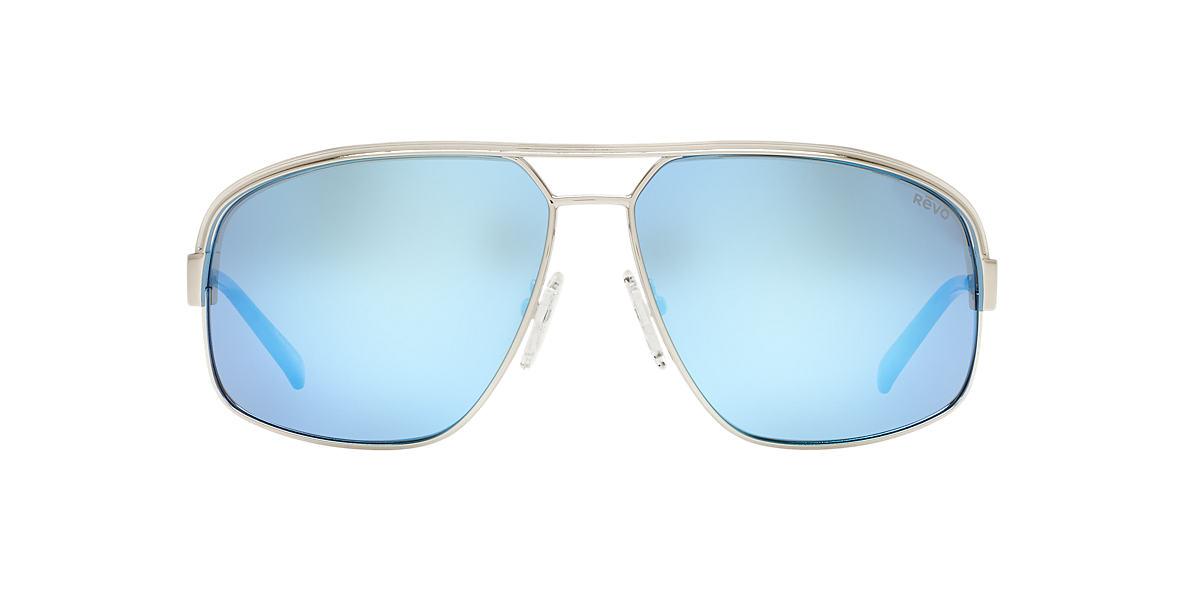 REVO Silver Shiny REB1002 STARGAZER 67 Blue polarized lenses 67mm