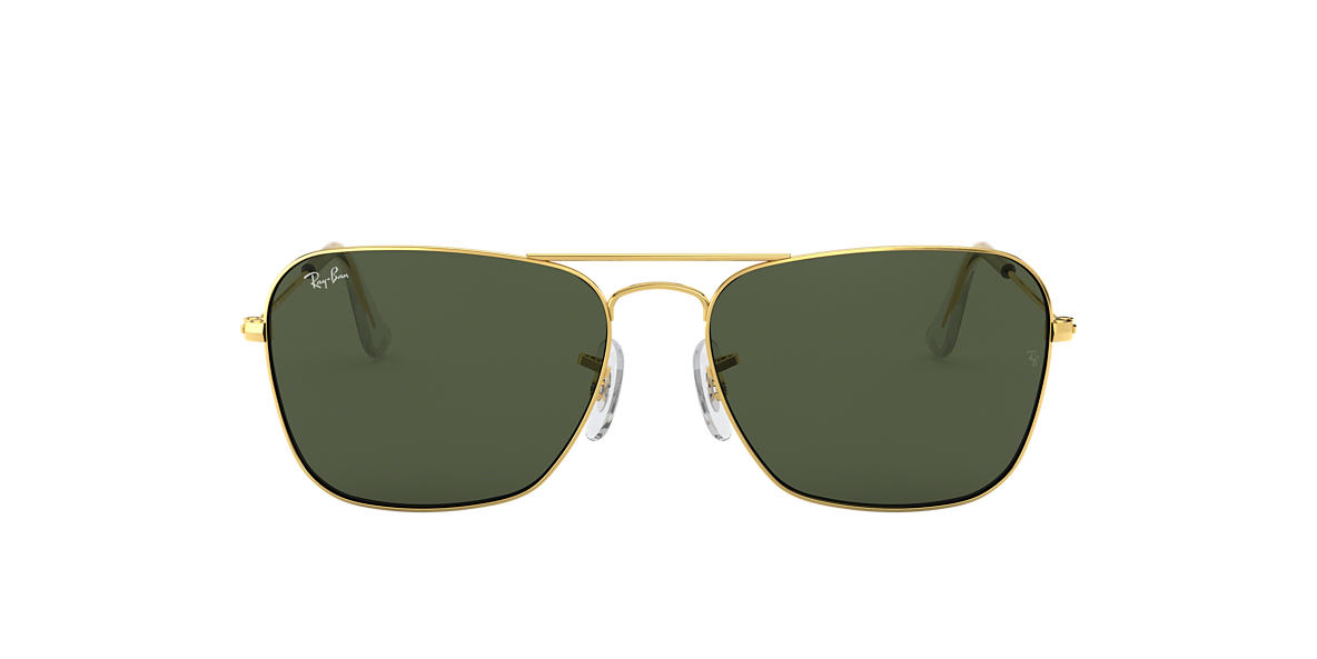 RAY-BAN Gold RB3136 Green lenses 58mm