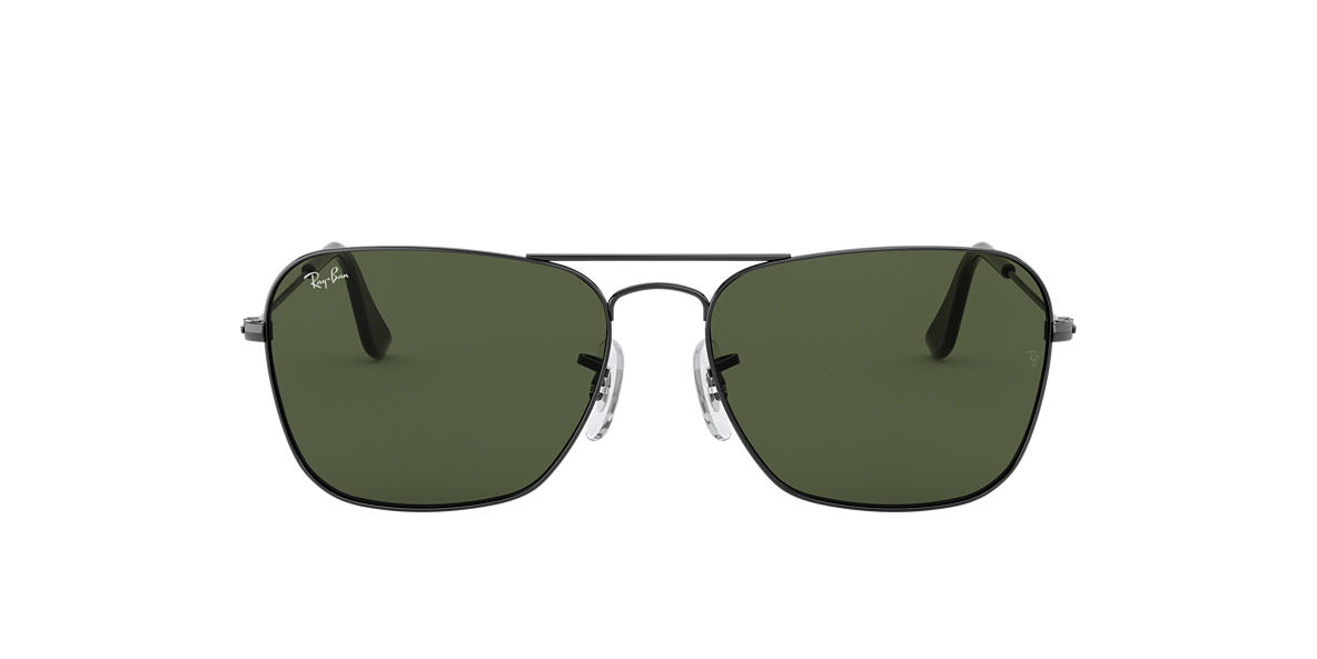 RAY-BAN Silver RB3136 Green lenses 58mm