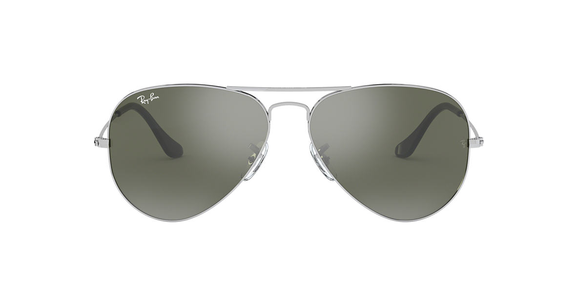 RAY-BAN Silver RB3025 Grey lenses 55mm