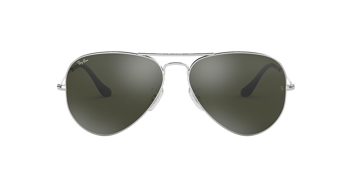 ray ban original aviator sunglasses hvmq  Ray-Ban RB3025 58 ORIGINAL AVIATOR 58 Grey & Silver Sunglasses  Sunglass  Hut USA