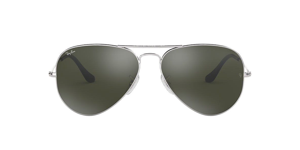 ray ban aviator silver  ray ban silver rb3025 58 original aviator grey lenses 58mm