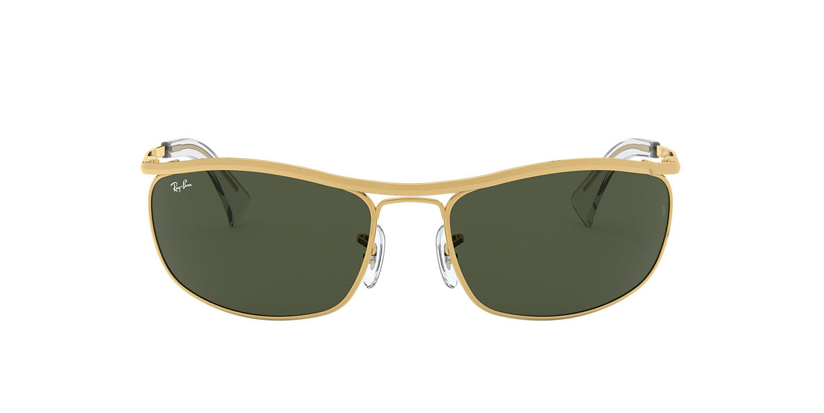 RAY-BAN Gold RB3119 Green lenses 59mm