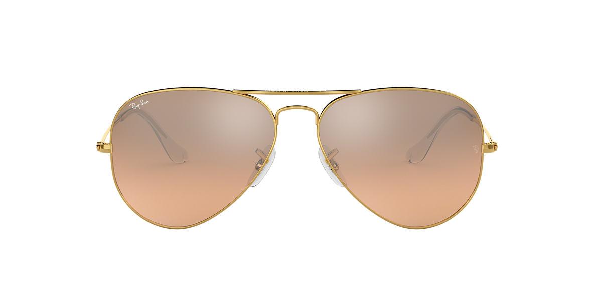 ray ban aviators sunglass hut uk  ray ban rb3025 55 original aviator 55 null & gold sunglasses