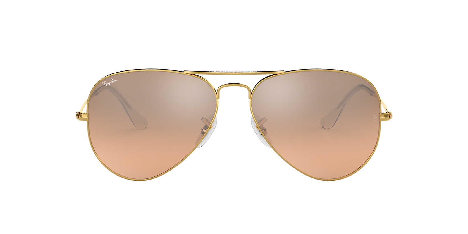 rose gold ray ban aviators  Ray-Ban RB3025 58 ORIGINAL AVIATOR 58 Pink \u0026 Gold Shiny Sunglasses ...