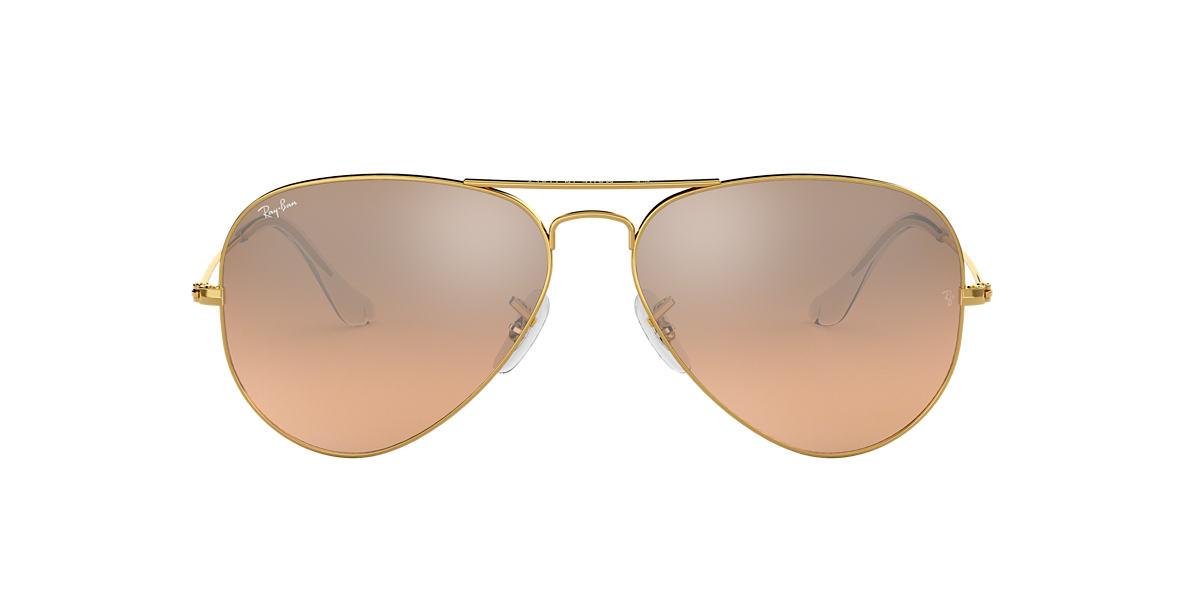 RAY-BAN Gold RB3025 Brown lenses 58mm