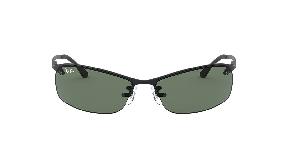 RAY-BAN Black Matte RB3183 63 Green lenses 63mm