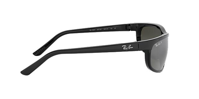 ray ban predator 2 polarized sunglasses rb 601 w1  ray ban rb2027 predator 2 62 grey & black polarized sunglasses