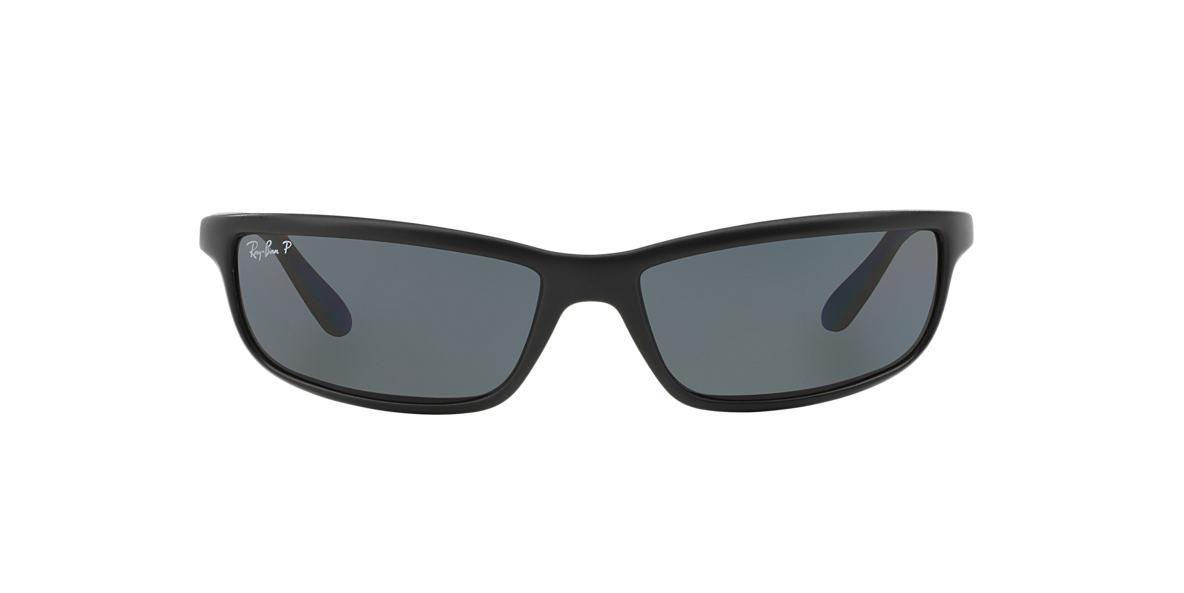 RAY-BAN Black Matte RB4034 61 Grey polarized lenses 61mm