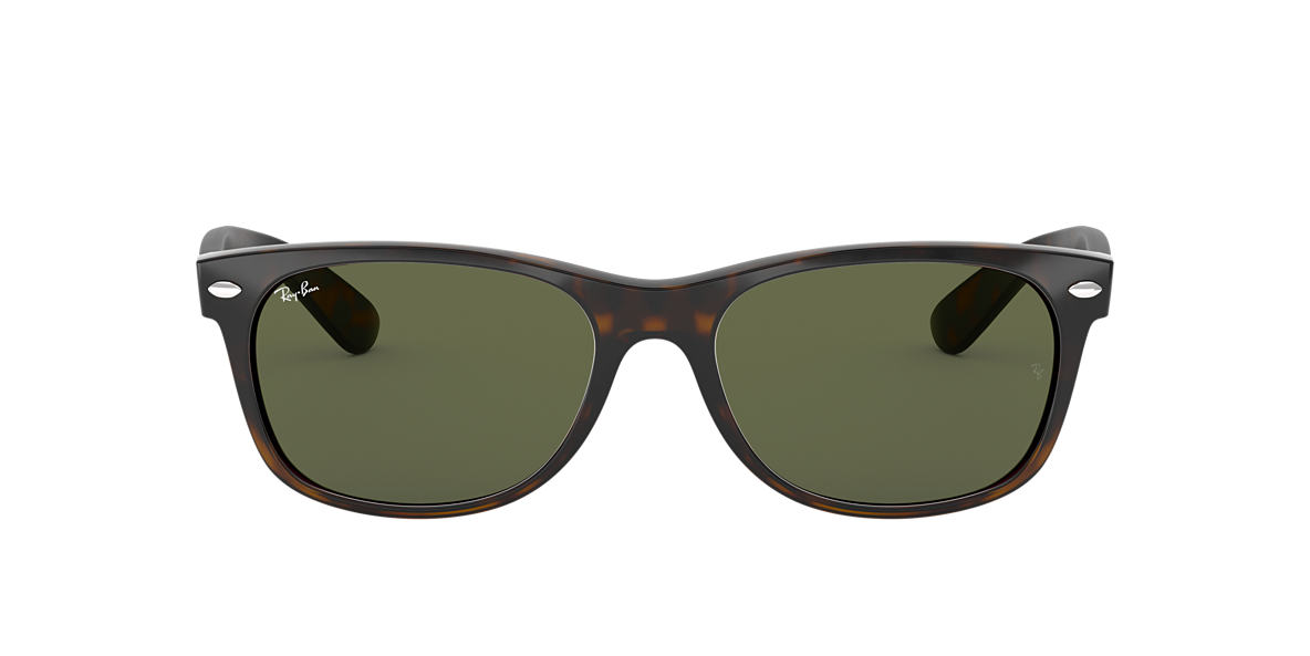 RAY-BAN Tortoise RB2132 55 NEW WAYFARER Green lenses 55mm