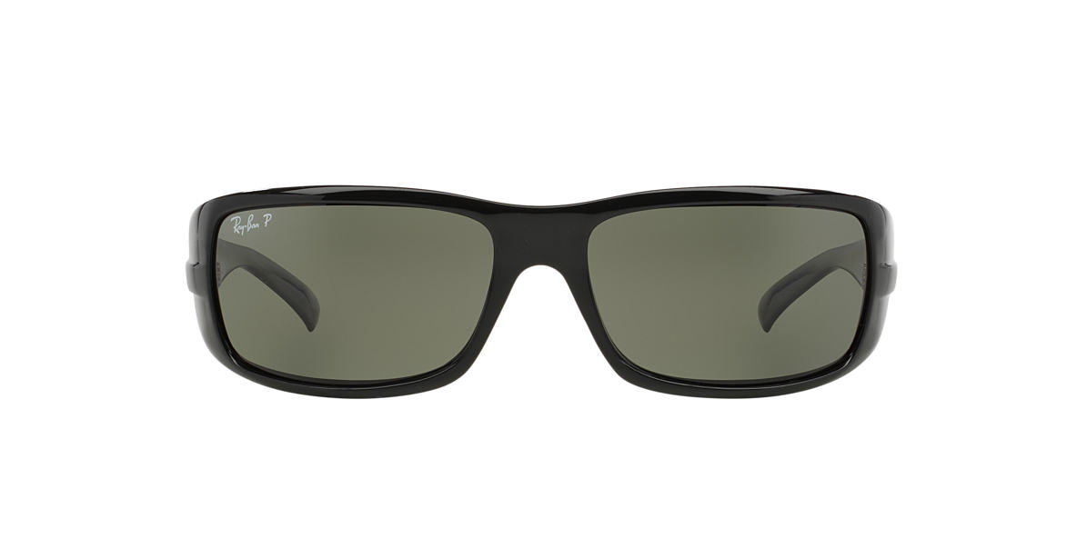 RAY-BAN Black RB4057 Green polarised lenses 60mm