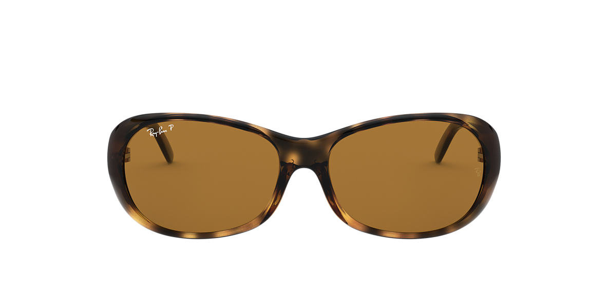 RAY-BAN Tortoise RB4061 55 Brown polarized lenses 55mm