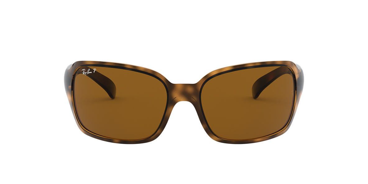 RAY-BAN Tortoise RB4068 60 Brown polarised lenses 60mm