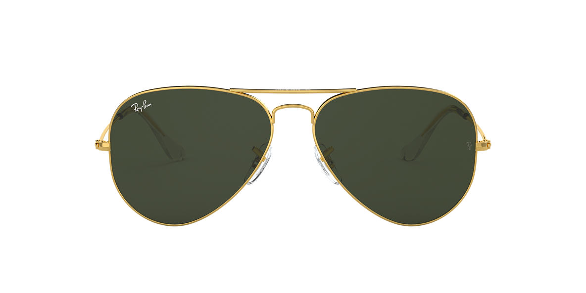 RAY-BAN Gold RB3025 Green lenses 62mm