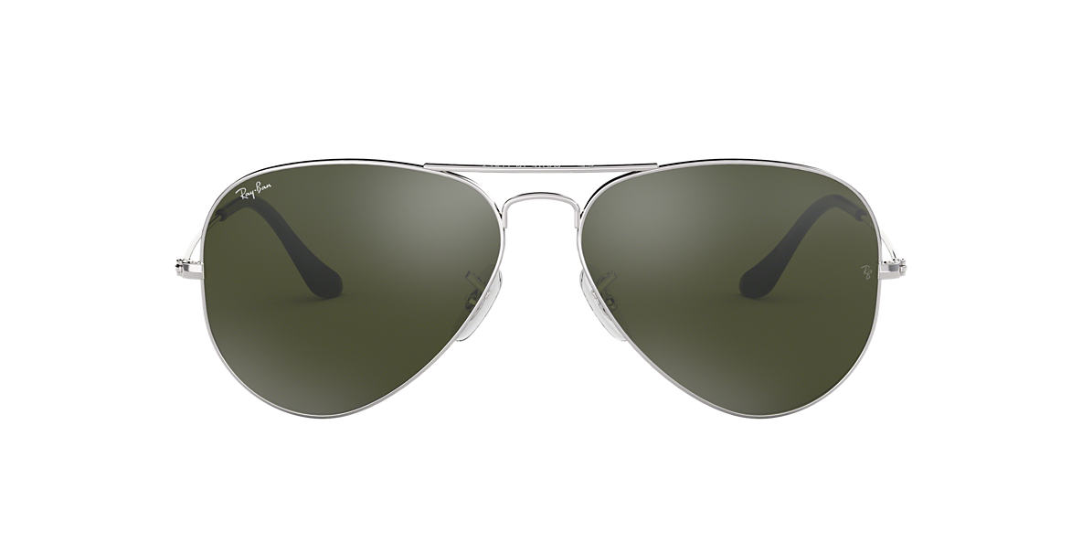 RAY-BAN Silver RB3025 Green lenses 62mm