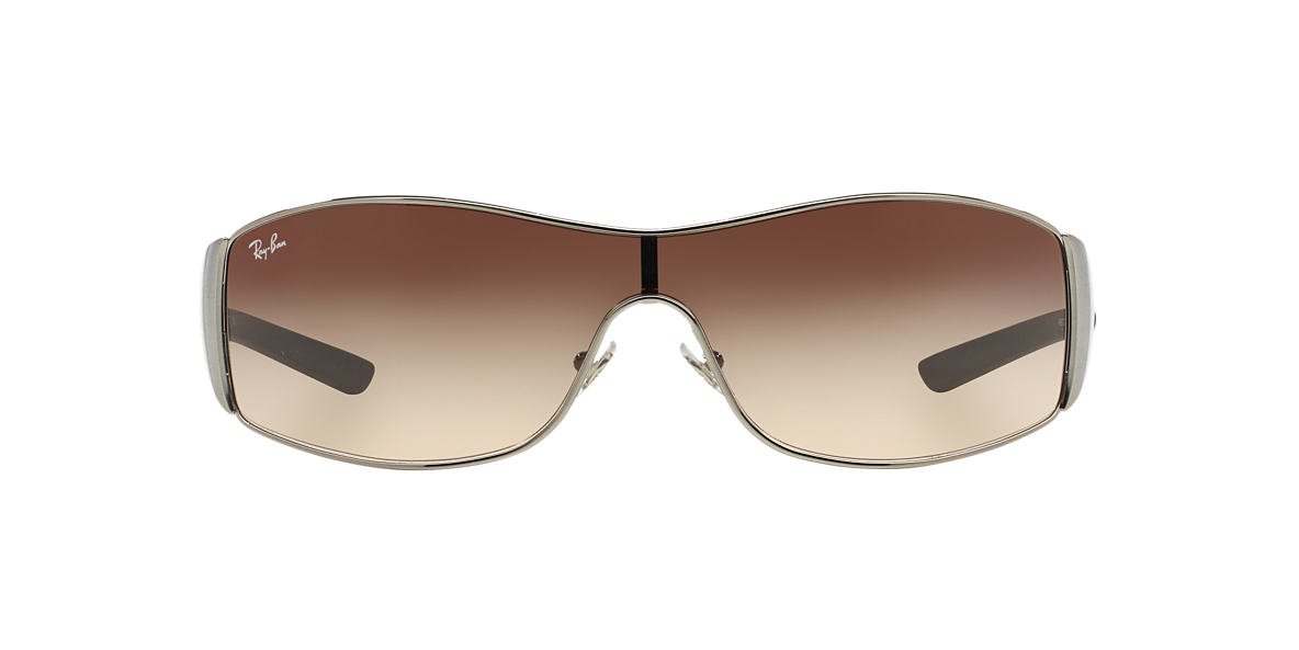 RAY-BAN Silver RB3268 Brown lenses 33mm