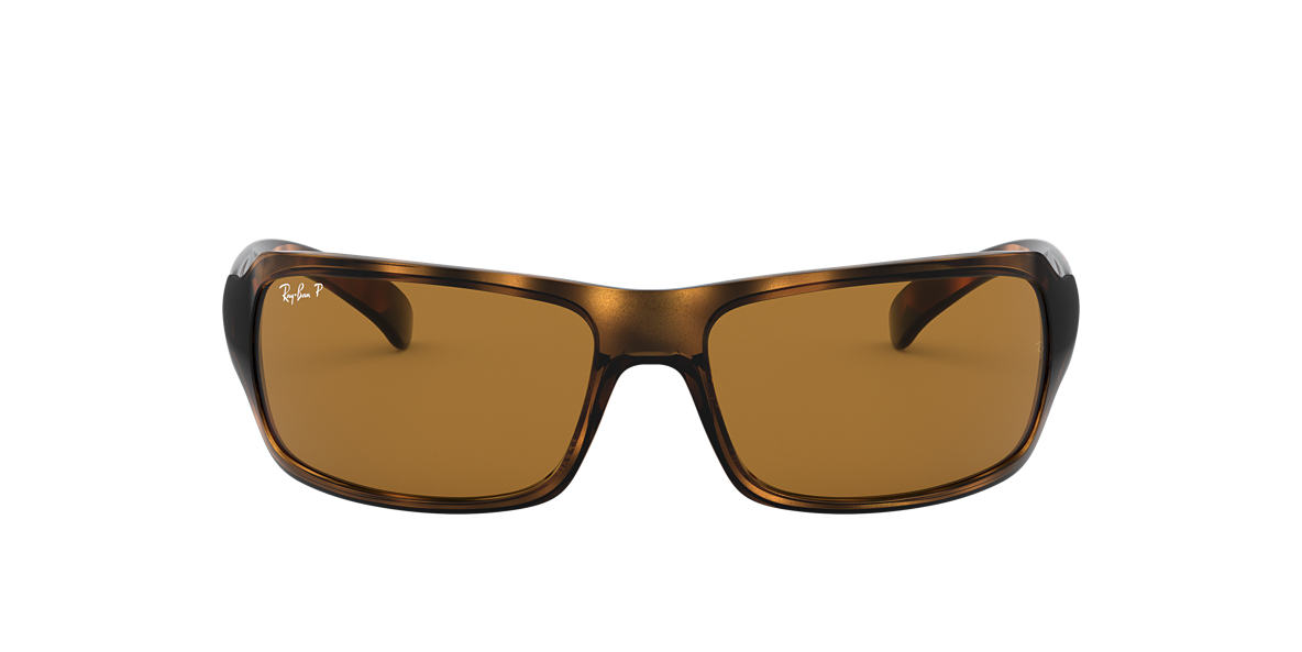 RAY-BAN Tortoise RB4075 61 Brown polarized lenses 61mm